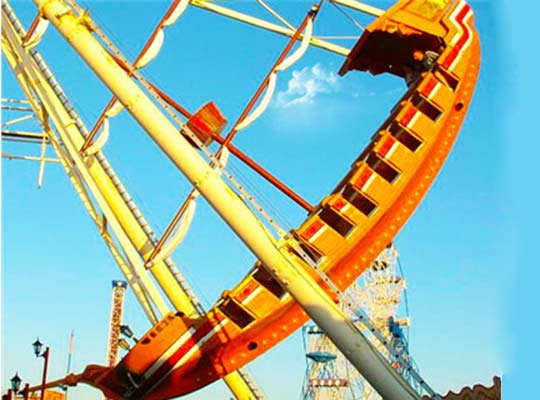 pirate ship carnival ride in Pakistan