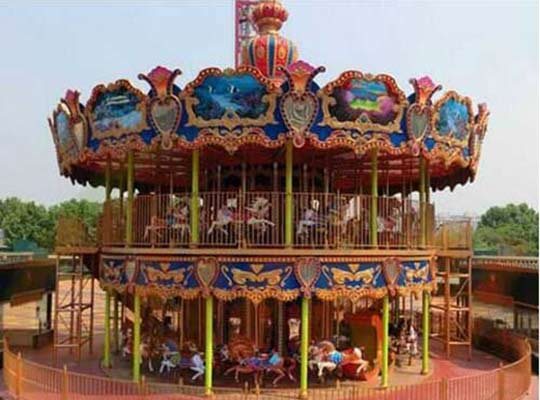 double deck top-driven grand carousel