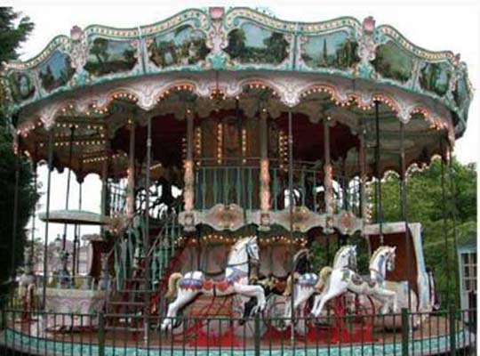 double decker merry go round carousel rides for sale